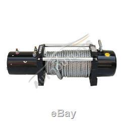 12V 12500LB Electric Remote Waterproof Winch Boat Steel Cable For ATV UTV