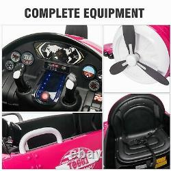 12V Kids Ride on Car Aircraft Airplane with Remote Control MP3 FM Radio New Pink