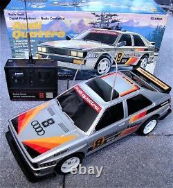 1985 Vintage Radio Shack Audi Quattro RC Car Remote Control w. Box Tested Works