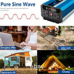 2000With4000W Pure Sine Wave Power Inverter 12V To 240V Converter &Wireless Remote