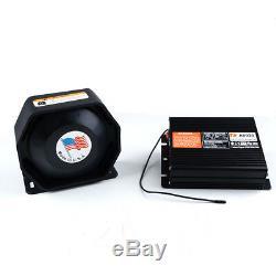 200W 18 Tones Car Warning Alarm Police Fire Siren Horn Loud Speaker System New