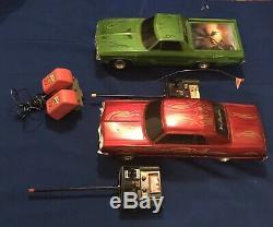 2 Radio Shack RC 1964 Impala 1969 El Camino Remote Lowrider Cars #586