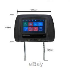 2x 7 Car Seat Headrest Touchscreen Monitor MP5 Radio Player USB SD FM IR Remote