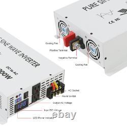 3500WPure Sine Wave Inverter 24V to 110V Car Power Remote Control Wireless RV
