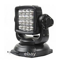 360° LED Searchlight Truck Boat Car Marine Wireless Spotlight + Remote Control