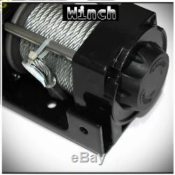 4500lb 12V 1531 Electric Recovery Winch Kit withSteel Cable For ATV UTV Boat Car
