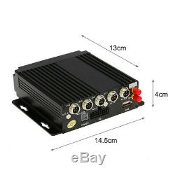 4CH 720P AHD Car Mobile DVR SD 4G Wireless GPS Realtime Video Recorder with Remote