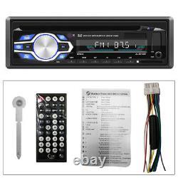 4Channel 1Din Car Audio Radio MP3 DVD CD Player Bluetooth AUX Remote Control 12V