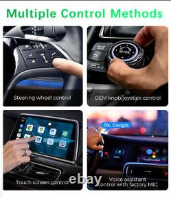 4G Wireless Carplay Android Car Audio GPS Navigation Player Accessories + Remote