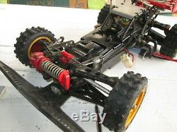 4WD RC RADIO REMOTE CONTROL OFF ROAD RACER CAR TAMIYA HOT SHOT withTRANSMITTER
