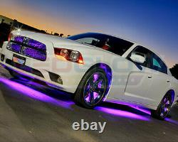 4pc LEDGlow Purple Underglow Car LED Neon Lights Lighting Kit w Wireless Remote