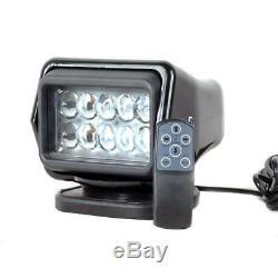 50W 6500LM LED Remote Control IP67 Searchlight Truck Boat Car Wireless Spotlight