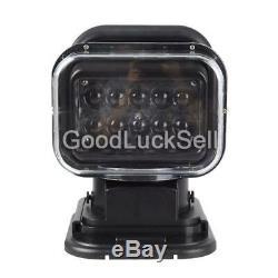 50W LED 360° Remote Control Searchlight Truck Boat Car Marine Wireless Spotligh