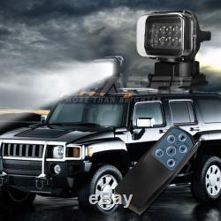 50W LED 360° Remote Control Searchlight Truck Boat Car Marine Wireless Spotlight