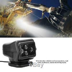 60W LED Spotlight Wireless Remote Control Searchlight For Truck Car Boat Marine