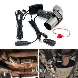 63mm Car Electric Exhaust Valve Control Downpipe Cut Out Catback Wireless Remote