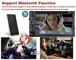 6.2 Double 2 DIN HD Car Stereo DVD WMA CD Player Remote Control Bluetooth Radio