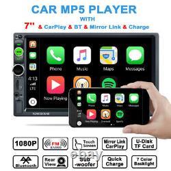 7HD Mirror Link Stereo Radio AUX Audio Remote Control Bluetooth Car MP5 Player