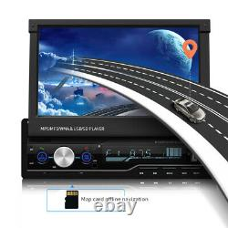 7'' 1DIN Touch Screen Bluetooth Car Stereo Radio GPS MP5 Player withRemote Control