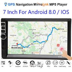 7 2Din Car MP5 Player Touch Screen Remote Control Mirror Link For Android/IOS