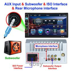 7 HD DAB Car Radio Stereo MP5 Player Android/IOS BT Mirror Link Remote Control