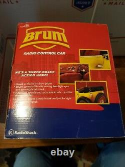 BRUM Remote Control Car Yellow Roadster with Remote Radio Shack