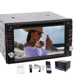 Backup Camera + 2 Din DVD CD Car Stereo Radio MP3 Player BT USB SD with Remote