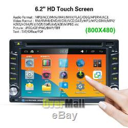 Backup Camera+Double Din Car Stereo Radio DVD mp3 Player Bluetooth with Remote