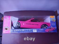 Barbie Hot Pink GM Corvette Mattel Doll Car Radio Remote Control Vehicle NEW
