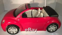 Barbie Red Volkswagen Beetle Convertible Radio Shack Remote Control Car Toy