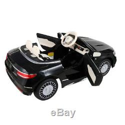 Benz 12V Kids Ride On Car Licensed Electric Toy with Remote Control Radio Music