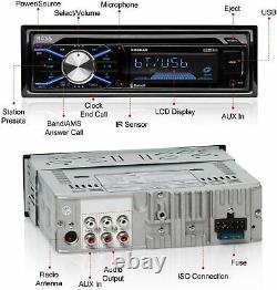 Bluetooth Boss Car Stereo Receiver CD MP3 Player USB/SD AM/FM Radio AUX Remote