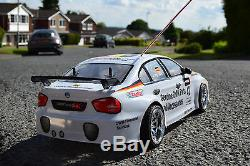 Bmw M3 Rechargeable Radio Remote Control Car 1/10 Rc Rally Car Speed 20 Mph