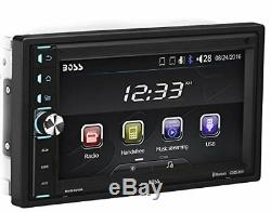 Boss Double Din Usb Sd Aux Radio Car Stereo Receiver Audio Bluetooth Remote