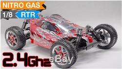 Buggy Radio Car 1/8 2.4Ghz Exceed RC Razor. 21 Nitro Gas Powered RTR Remote