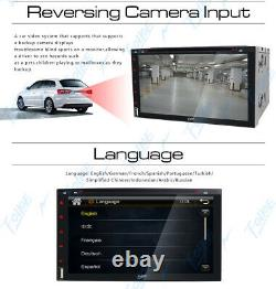 CAMERA+Double Din 7Car Stereo Radio CD DVD Player Remote Control SD USB TV Head