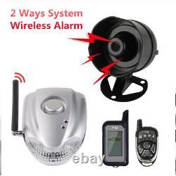 Car 2-way System Anti-theft Device Security Wireless Remote Anti-theft Alarm
