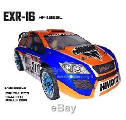 Car Electric Remote-Controlled Rally Complete Brushless 4WD Radio 2.4GHZ 1/16