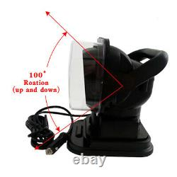 Car LED Wireless Remote Control Marine Boat Searchlight Rotated Spotlight 50W
