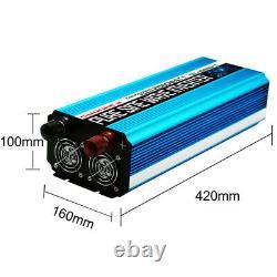 Car Power Inverter 2000W 4000W 24V To 110V Pure Sine Wave LCD+Wireless Remote