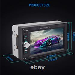 Car Stereo Bluetooth Touch Screen With Remote Backup Reverse Camera USB SD Radio