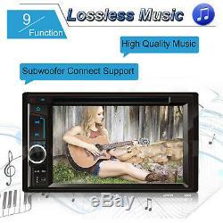 Car Stereo Radio MP3 CD DVD Player Bluetooth FM Radio 2DIN withRemote Control