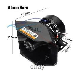 Car Warning Alarm Police Fire Horn Speaker PA MIC System Wireless Remote Control