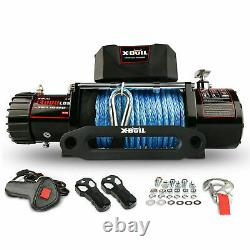 Car Winch 13000lb Synthetic Rope Waterproof IP67 Wireless Handheld Remote