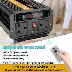 DC 12V To AC 240V Power Inverter 2500W 5000W Car Converter with Wireless Remote