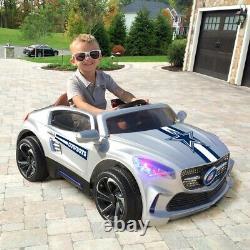 Dallas Cowboys Ride On Ultimate Sports Car With Remote Control & Radio Kids