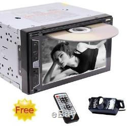 Eincar Double 2Din 6.2 Car Stereo Radio DVD Player In Dash BT MP3 Remote+Camera