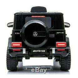 Electric 12V Kids RC Ride On Car with Radio Remote & MP3 Mercedes G63 AMG Black