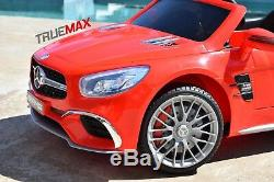 Electric 12V Kids RC Ride On Car with Radio Remote & MP3 Mercedes SL65 AMG Red