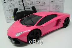 Ferrari Radio Remote Control Car Sports Pink Girls Rc Car Headlights NEW BOXED